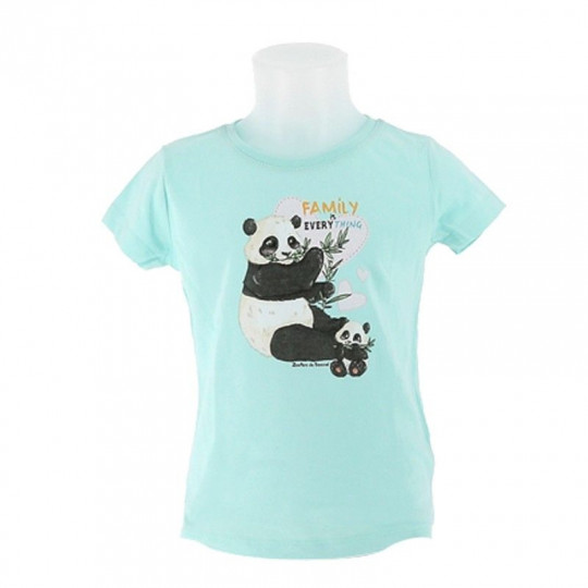 Tee-shirt fille panda family