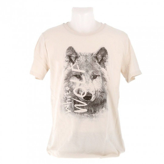 Tee shirt homme white wolf