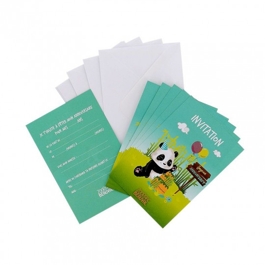 Ensemble cartes invitation anniversaire - Yuan Meng