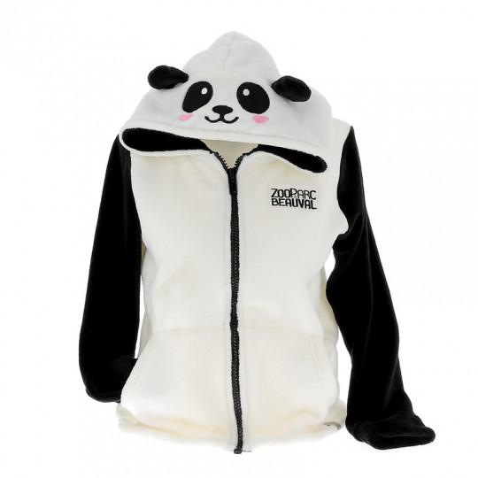 Veste polaire panda adulte