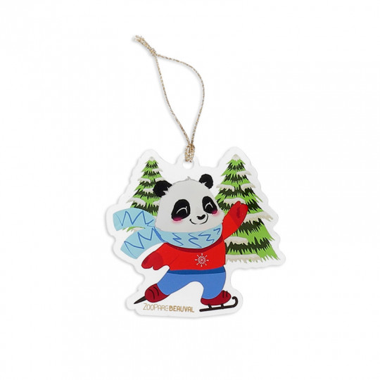 Décoration de Noël panda patinage