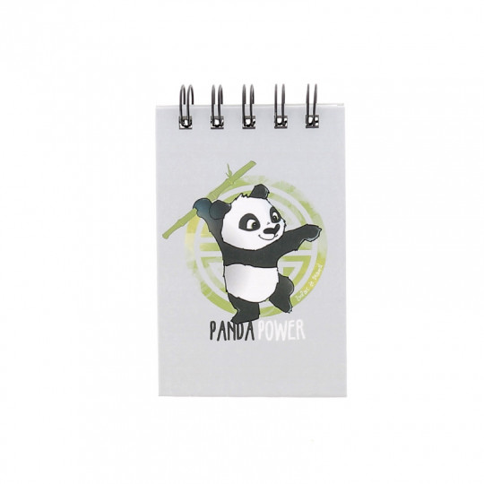 Mini carnet panda power