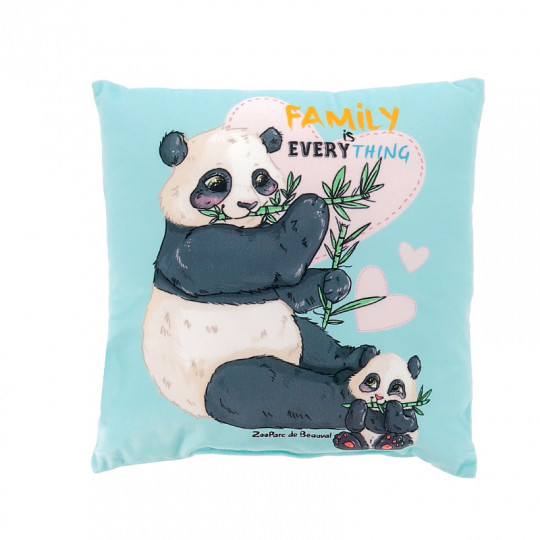 Coussin panda family
