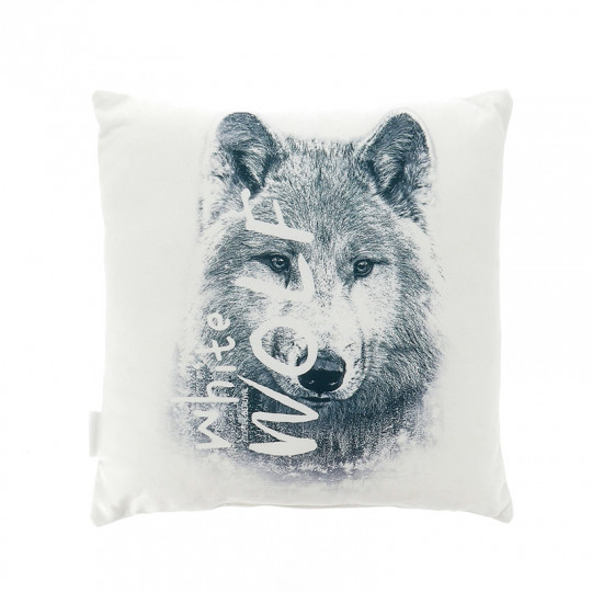Coussin white wolf