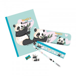 Set écolier panda family