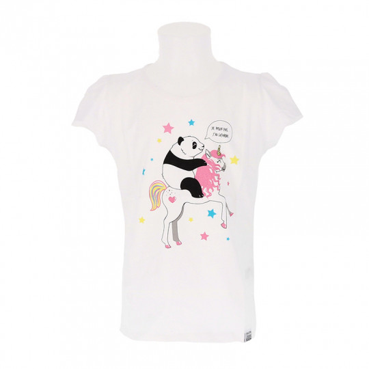 Tee-shirt fillette panda licorne