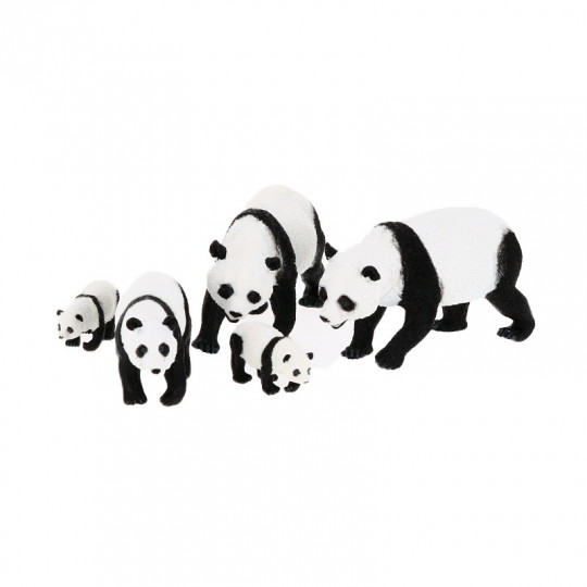 Set de 5 figurines panda