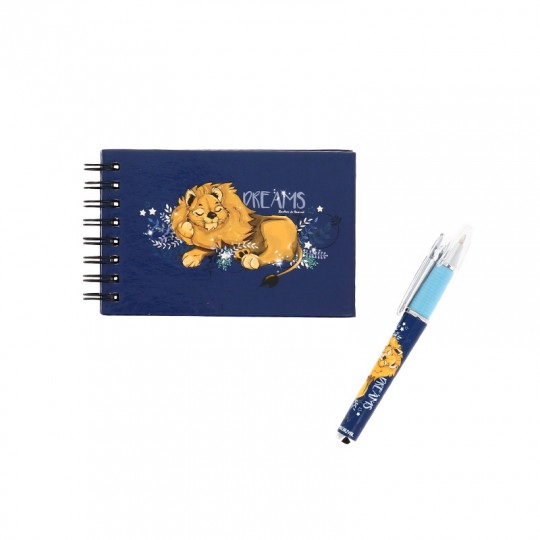 Carnet et stylo lion dreams