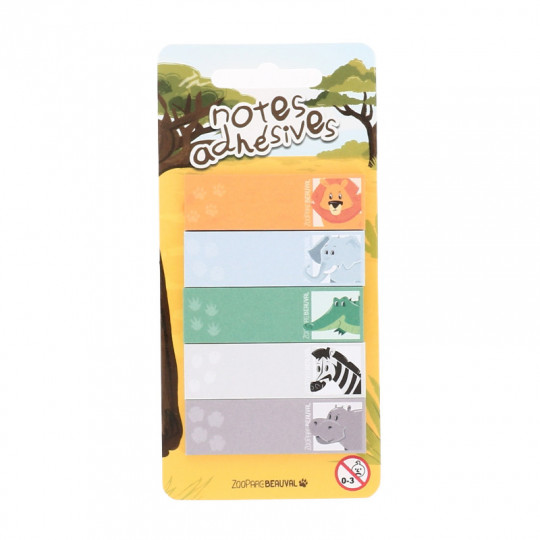 Set de post-it marque-pages savane