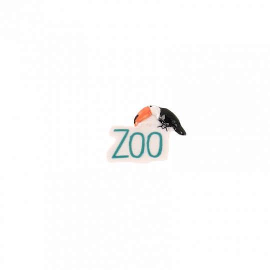 "Fève Beauval lettres ""ZOO"" toucan"