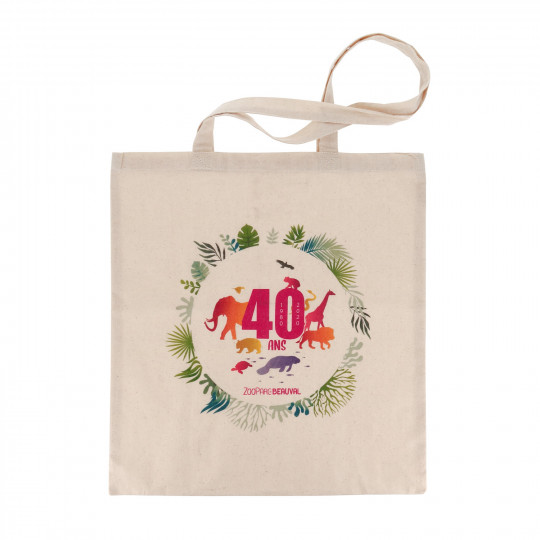 Tote bag 40 ans de Beauval