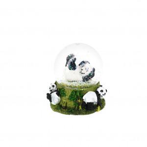 Boule neige panda jouant