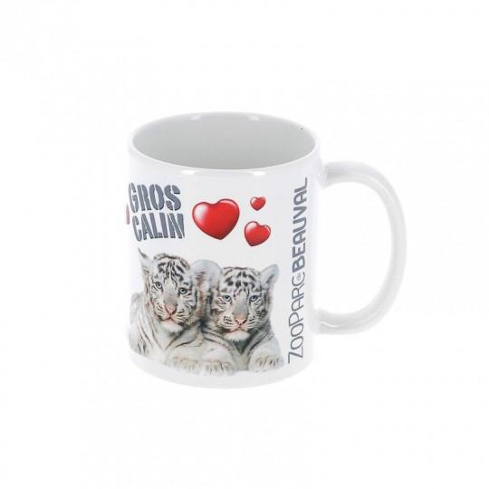 """Mug tigre blanc """"gros câlin"""""""