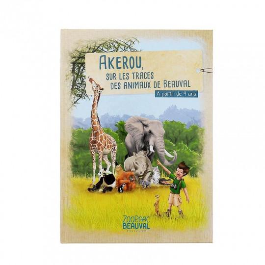 """Livre """"Akérou sur les traces des animaux de Beauval"""""""