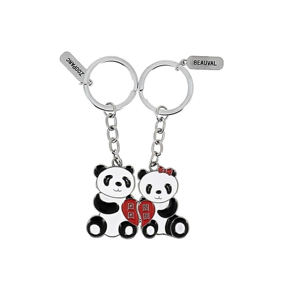 porte cl panda duo coeur la boutique du zooparc de beauval. Black Bedroom Furniture Sets. Home Design Ideas