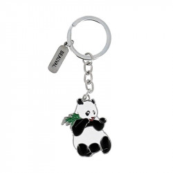 Porte-clé panda bambou