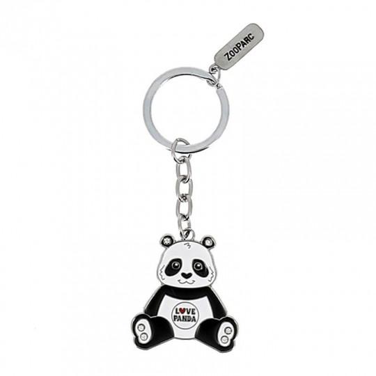 Porte-clé strass I love panda